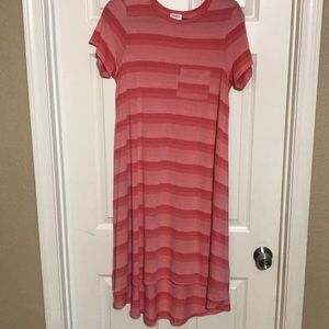 Light pink and dark pink striped Carly size xs.